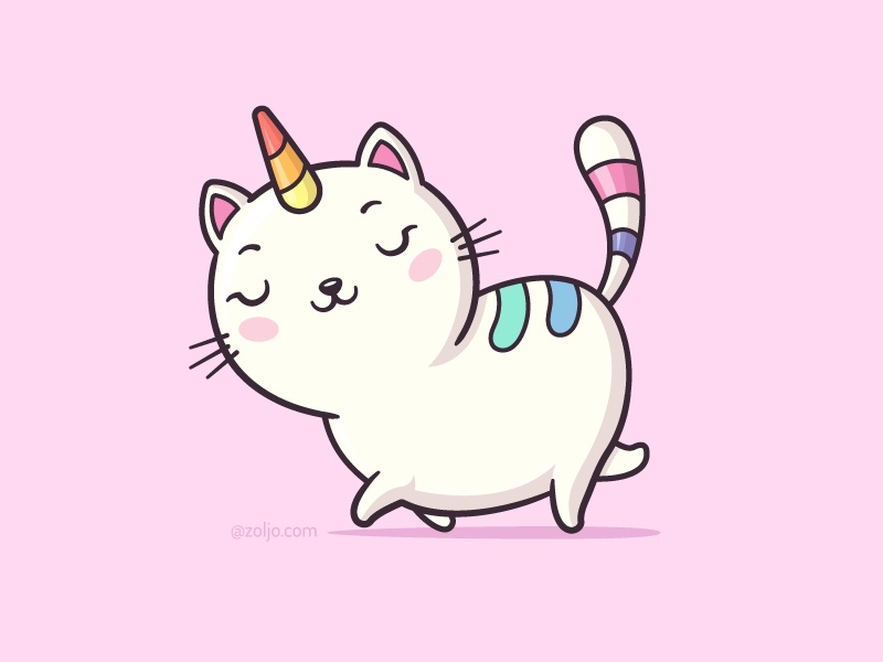 KittyCorn illustration cartoon vector unicorn kitten kitty cat