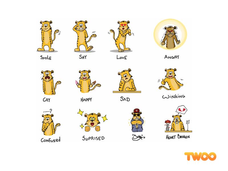 Tiger Sticker twoo sticker tiger