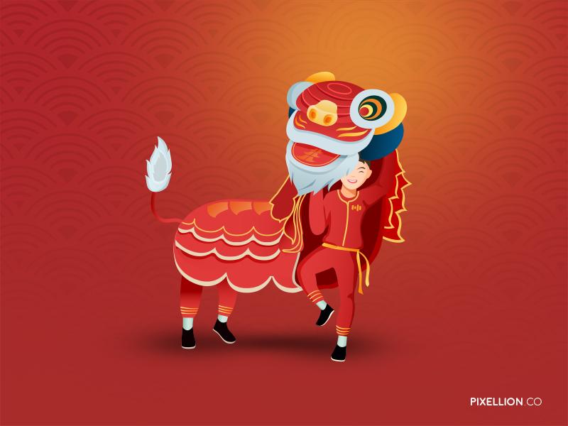 Gong Xi Fa Cai newyear chinese lion