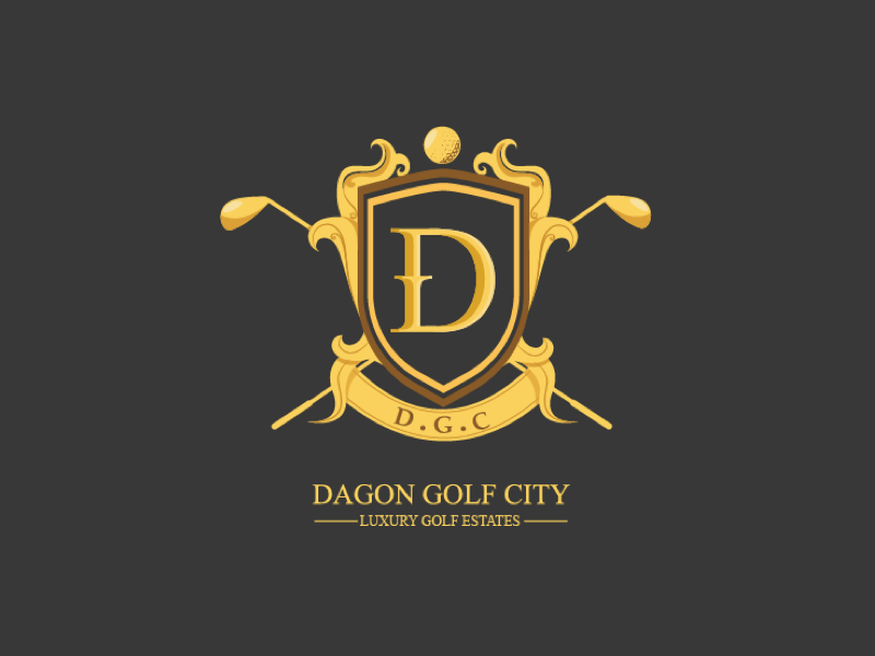 Dagon Golf City Logo city golf logo