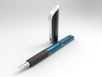Pen concept study rendering 3d