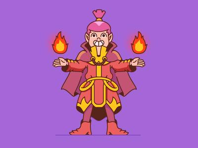 Freed - character design boy characters cartoon character design illustration illustrator wizzard cartoon fire magic elf