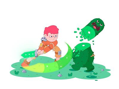 Battle flat magic battle vector illustration 2d design characterdesign character illustration cartoon
