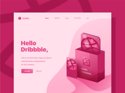 Dribbble Landing Page by Ramadhany Creative