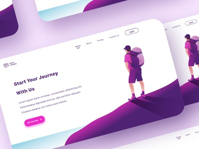 Hiking Landing Page Concept