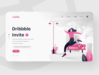 Dribbble Invitation Landing Page