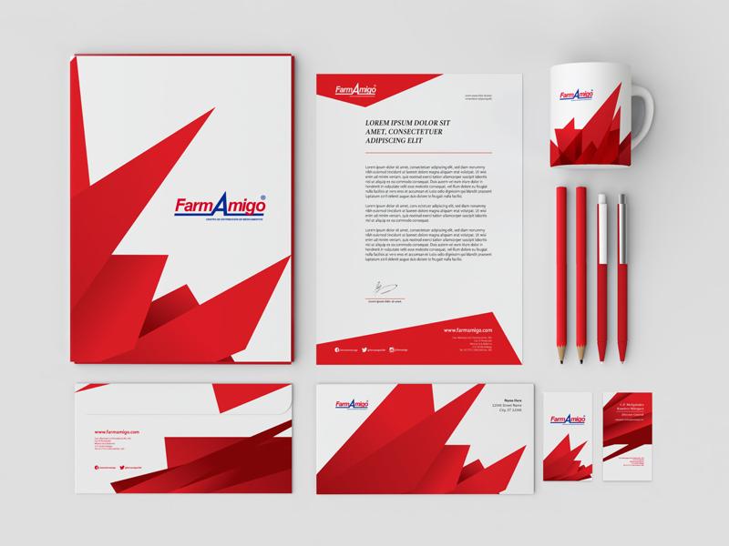 FA brand refresh pharma amigo corporation stationery brandbook branding