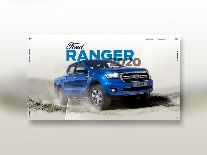 Ford Ranger 2020 photoshop landingpage motor automobile ui truck car