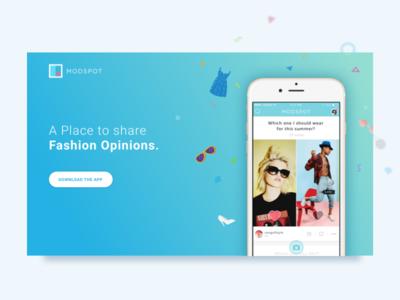 Daily UI #003 - Landing Page dailyui download landing landing page fashion teenager confetti dress glasses shoe