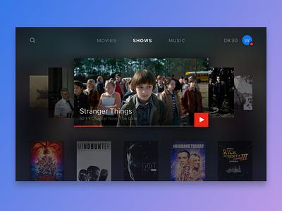 Daily UI #025 - TV App video tv dailyui