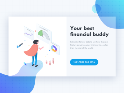 Daily UI #026 - Subscribe dailyui subscribe illustration isometric finance data visualization