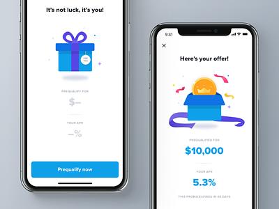 A Little Gift! gift money confetti reward offer loan finance mobile app