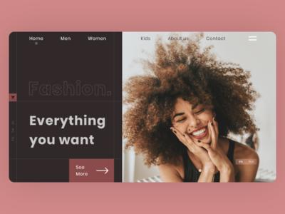 Online shop concept UI