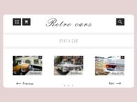Rent a retro car web Concept UI