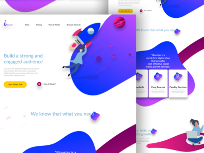 Digital Marketing Landing Page UI.