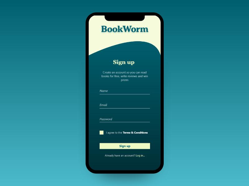 Sign up dailyui ui mobile design signup form 001