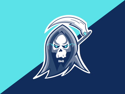 Esport/Mascot Logo. Grim Reaper with Scythe~