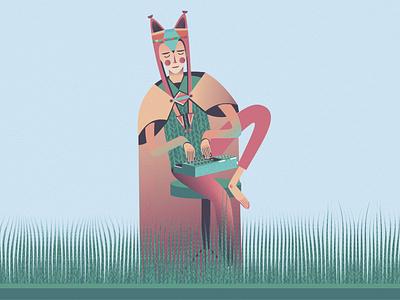 Reginn Sátt apparel design epos colorful kawaii art kawaii book illustration vector art vector illustration illustration iceland icelandic japanese mythical creature mythology myth love