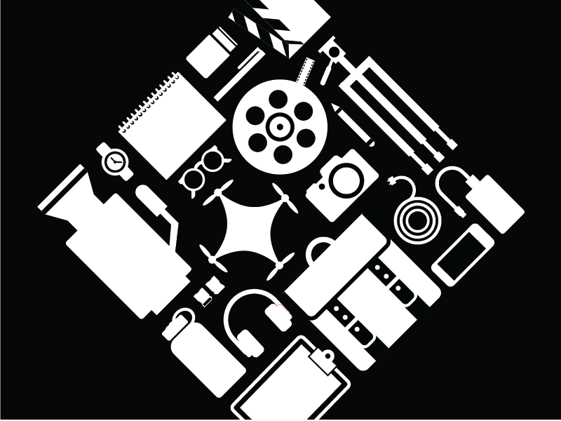 Video-themed T-shirt graphic design graphic icons shirt film video