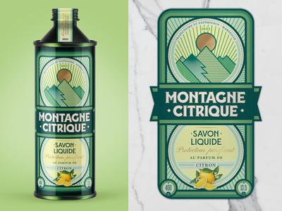 Montagne Citrique Savon art arte ilustración illustration art ilustração branding design packagingdesign packaging design package design pack packaging savon