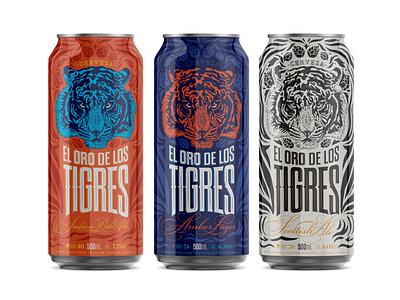 El Oro de los Tigres - Beer drawingart drawing dibujo draw graphicdesign illustration art ilustración ilustração illustration arte art design design art package design packagingpro packaging tigre tiger beer art beer