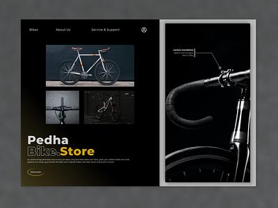Pedha Bike Store web bike design ux ui app