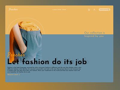 Peaches Fashion fashion figma design ux ui app