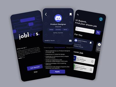 Joblees - Job Finder App jobfinder figma design ux ui app