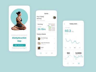 Dietlytica Diet App clean design branding app