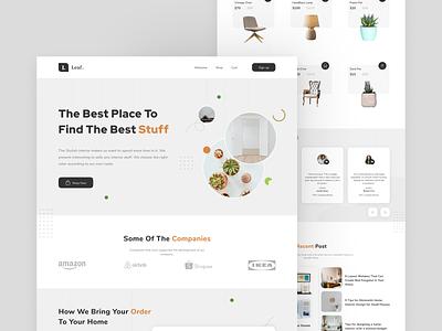 Leaf - Home Interior Marketplace clean webdesign design ux ui marketplace interior website web minimal