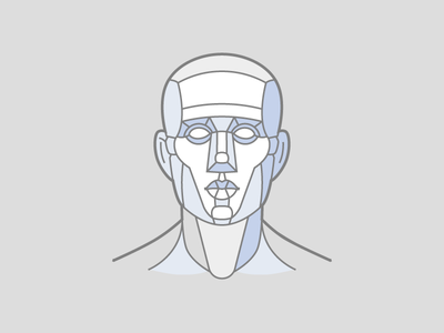 Geometric man head