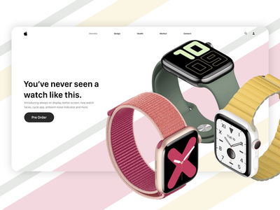 Apple Watch Series 5 - Product website concept