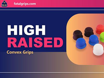 Fatal Grips Advertisement | High Raised vibrant colourful minimal icon kacper skibicki kacperdzn kacper design advertisement design advertising ad advertisement fatal grips advertisement product advertisement fatal grips app