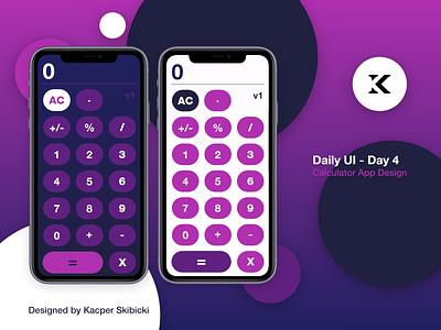 Calculator App #DailyUI calculate calculator ui gradient vibrant ux vector uiux colourful minimal kacper skibicki kacperdzn kacper icon design app calculator calculator design ui calculator app