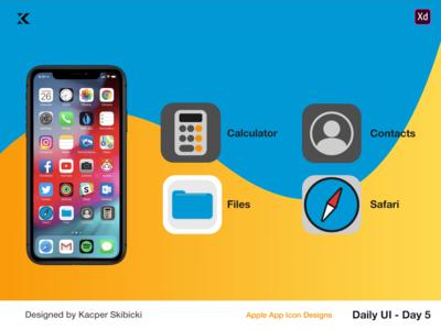 Daily UI 5 — Apple App Icons