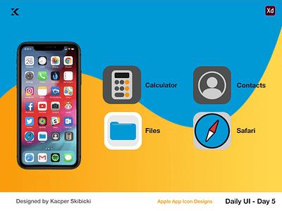Daily UI 5 — Apple App Icons flat dribbble dailyuichallenge apple app icon ui ux dailyui 001 app icon swoosh colourful dailyui apple kacper skibicki kacperdzn kacper icon app