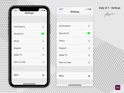 Daily UI 7 — iPhone Settings #DailyUI