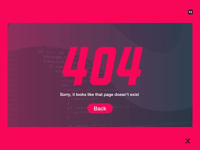 Daily UI 8 - 404 Page 404 web web page error page error simple clean pink purple colourful minimal icon design ux kacperdzn kacper kacper skibicki app ui web 404 page