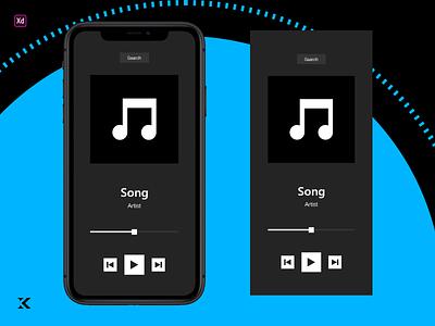 Daily UI 9 - iOS Music Player web apple music app ios app smartphone iphone blue icon design ux kacperdzn kacper kacper skibicki app dailyui uiux ui music player ui music player ios