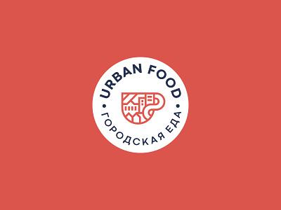 Urban Food Logo cafe logo cafe badgedesign design brand identity logo branding design branding and identity brandidentity logo design branding and logo branding