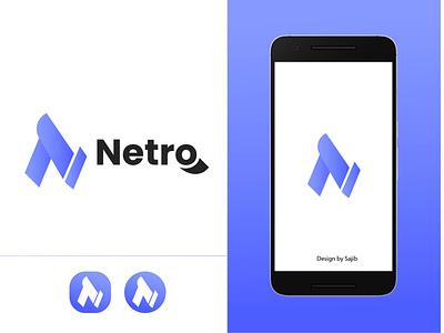 Netro  App Icon Logo logo designer logo logodesign logo design ios logo android app logo android logo app icon logo mordern logo app icon