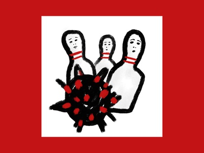 Strike strike coronavirus covid-19 covid19 quarantine digital drawing design magazine editorial illustration digitalart
