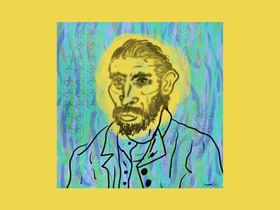 Giallo Van Gogh yellow artist art portrait vincent van gogh van gogh design drawing digital editorial magazine illustration digitalart