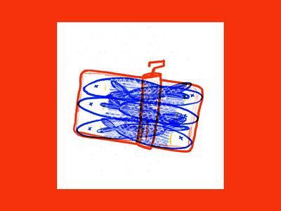 Sardine di Aprile canned april fools fish sardine design drawing digital editorial magazine illustration digitalart