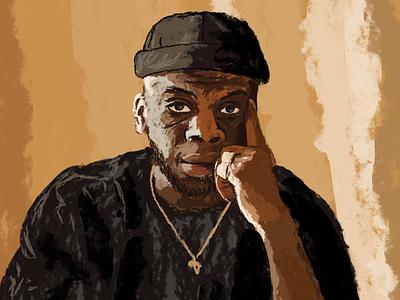 Antonio music literature trap rapper hiphop design digital magazine editorial illustration digitalart