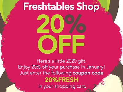 Freshtables Marketing christoms selfpromotion marketing coupondesign coupon freshtables