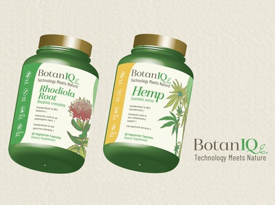 Botaniq  - 3d Package Mockup - Rhodiola Root and Hemp Root