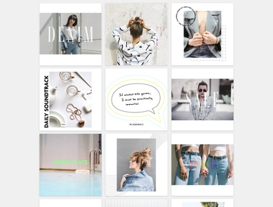 Social Media Branding california los angeles typography monochromatic grey mood minimal digital marketing fashion beauty brand identity graphic design instagram design social media branding instagram socialmedia