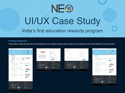 UI/UX Case Study - Education Rewards Website abode illustrator adobe photoshop design landing page rewards website design education website education program case study ux ui