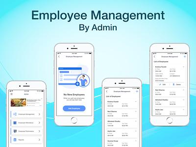 Employee Management App minimalistic employee management mobile app case study design ux ui app